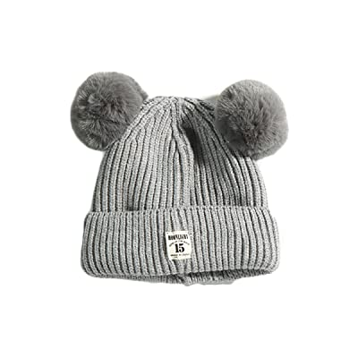984ed978232 Fighting to Achieve Fashion Winter Warm Cute Fur Ball Ears Knitted Toddler  Beanie Hat for Baby Boys Girls