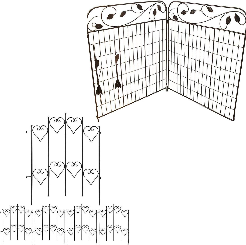 Amagabeli Decorative Garden Fence 44in x 6ft Bundle 27inx9ft