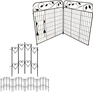 Amagabeli Decorative Garden Fence 44in x 6ft Bundle 27inx9ft