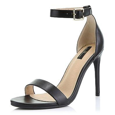 616d4bfeb58 Women's High Heel Open Toe Ankle Buckle Strap Platform Evening Dress Casual  Pump Sandal Shoes