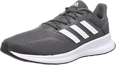 Con engañar comestible  Amazon.com | adidas Falcon Mens Neutral Running Fitness Trainer Shoe  Grey/White | Road Running