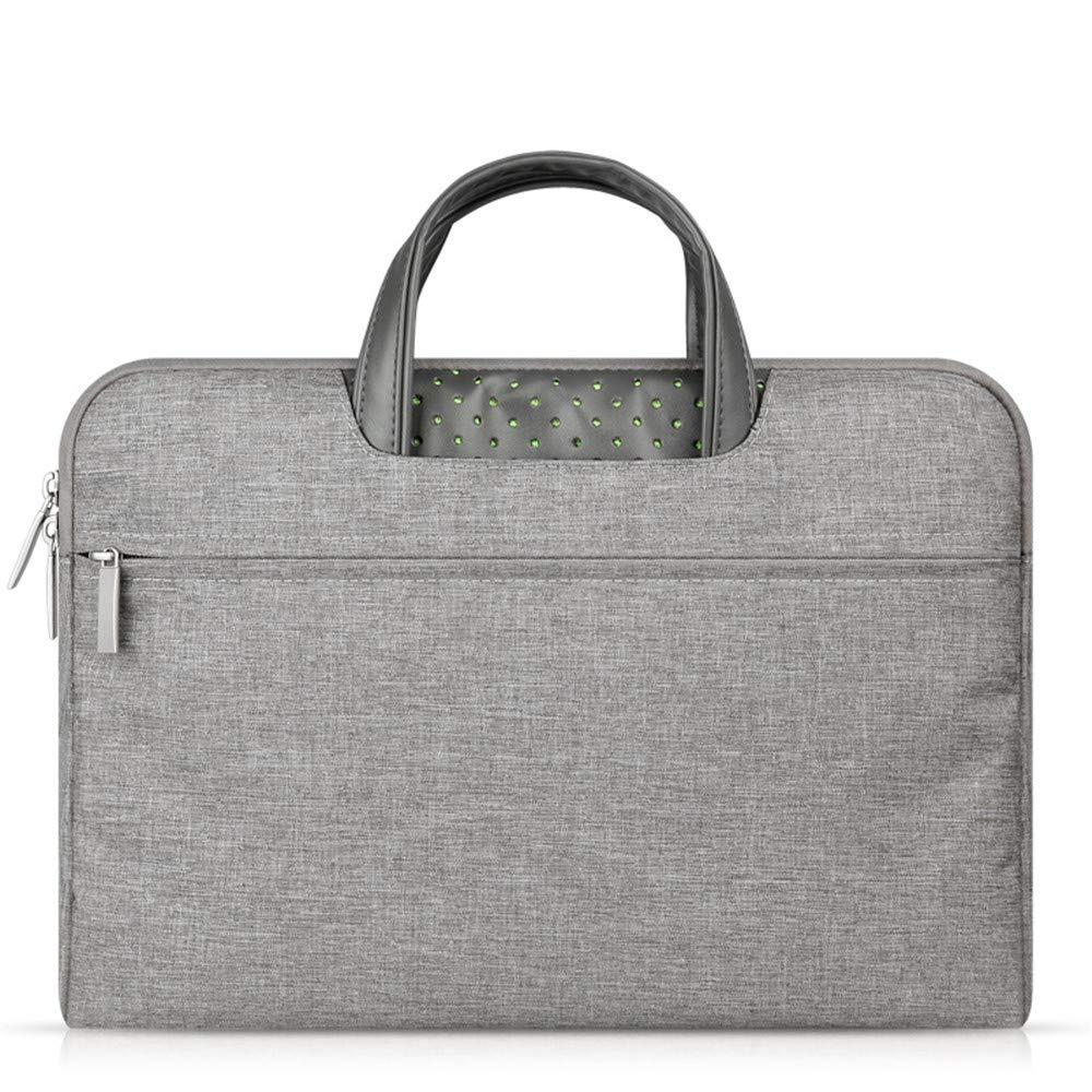 Amyannie Laptop Messenger Bag Unisex Computer Bag 11/13/14/15.6 Inch MacBook Air/pro Notebook Liner Bag Handbag Briefcase Laptop Messenger Bag (Color : Gray, Size : 13'')