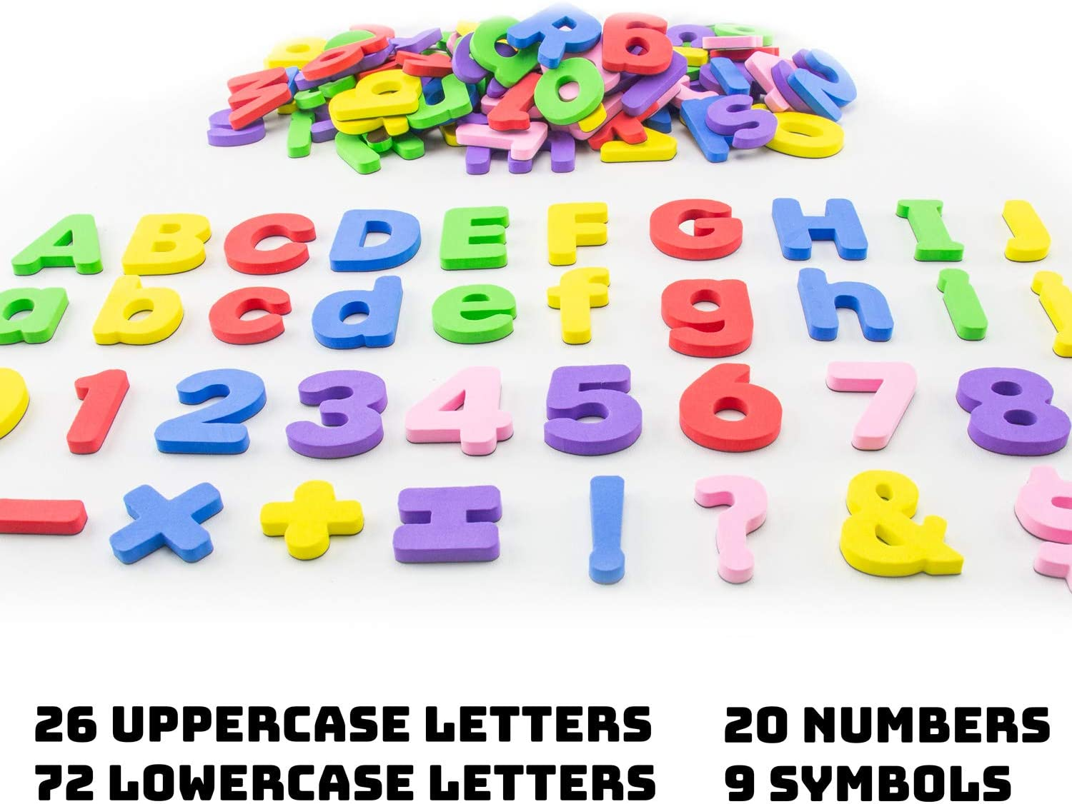 Premium Set of 127 Alphabet Magnets Extra Large Hominize Magnetic Letters and Numbers for Toddlers