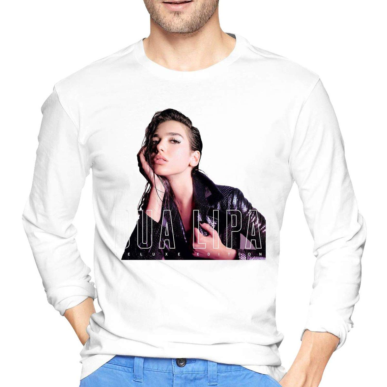 Dua Lipa Mens 100/% Cotton Long Sleeve Round Collar Cool T-Shirts
