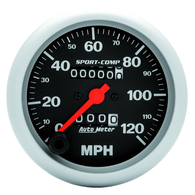 Auto Meter 3992 Sport-Comp 3-3/8' 120 mph In-Dash Mechanical Speedometer