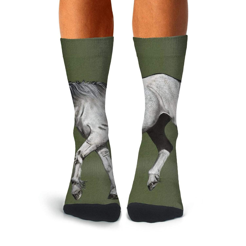 Knee High Long Stockings KCOSSH Animal Horse Novelty Calf Socks Pattern Crew Sock For Men