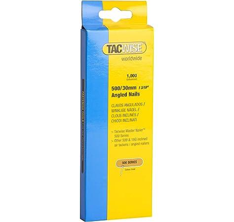 Tacwise 0481 Clavos angulados de tipo 500 x 30 mm (caja de 1000 unidades), 30 mm, Set Piezas: Amazon.es: Bricolaje y herramientas