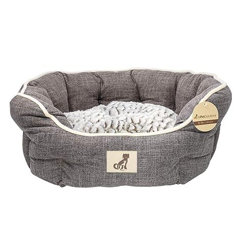 All Pet Solutions - Cama de Perro de Lujo con Forro Polar, tamaño pequeño,
