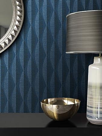 Tapete Blau Vlies in Natur-Optik | schöne, moderne, edle Tapete im  Grafik-Design | für Wohnzimmer, Schlafzimmer oder Küche inklusive Newroom  ...