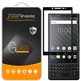 (2 Pack) Supershieldz for BlackBerry Key2 Tempered Glass Screen Protector, (Full Screen Coverage) Anti Scratch, Bubble Free (Black)