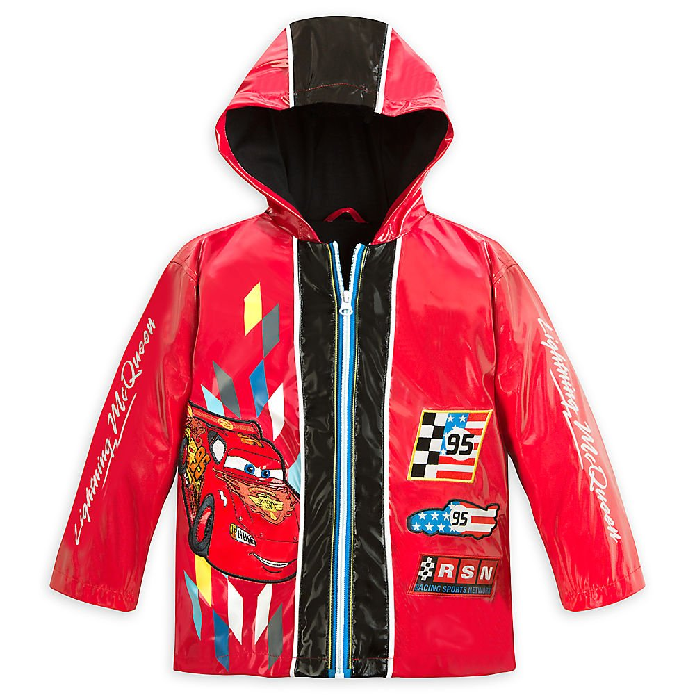 Disney Store Cars Lightning McQueen Rain Jacket/Raincoat Size Small 5/6 (5T)