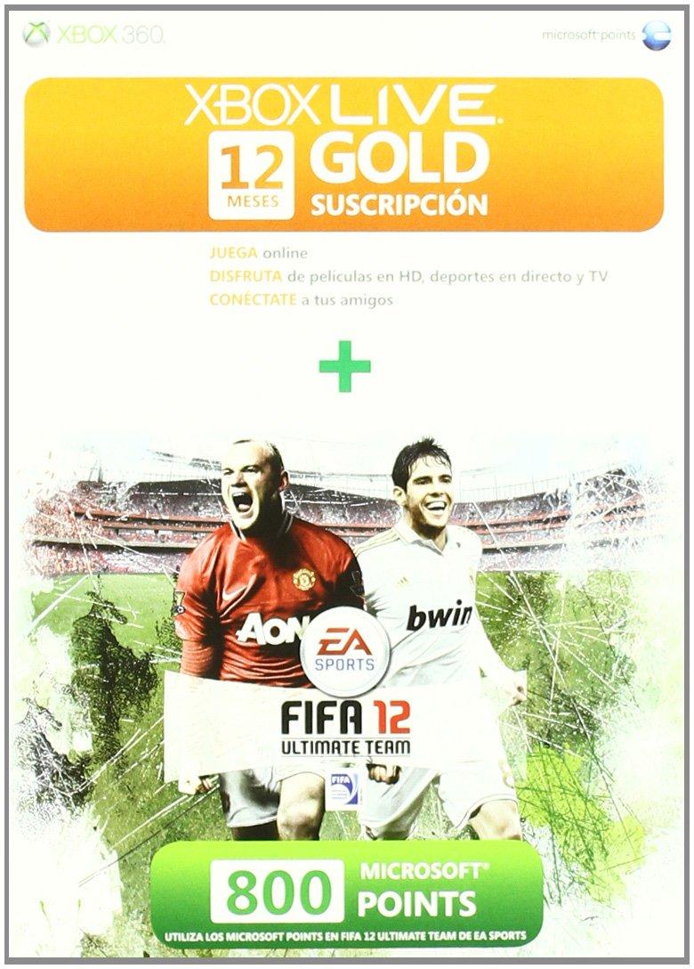 Tarjeta Suscripción Gold FIFA 12 meses + 800 Microsoft ...