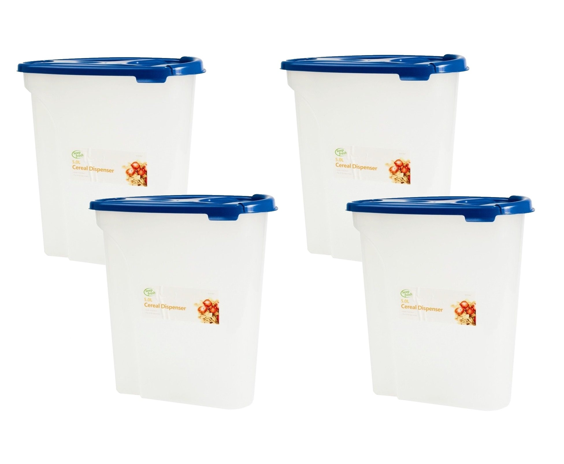 Keep Fresh 5L Cereal Dispenser Plastic Container Food Kitchen Storage Box with Air Tight Lid ideal  sc 1 st  Amazon UK & Plastic Kitchen Storage Containers: Amazon.co.uk