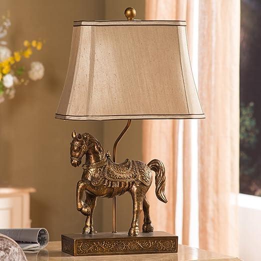 lo Bueno lámpara de Mesa Estilo Europeo Retro Caballo lámparas de ...