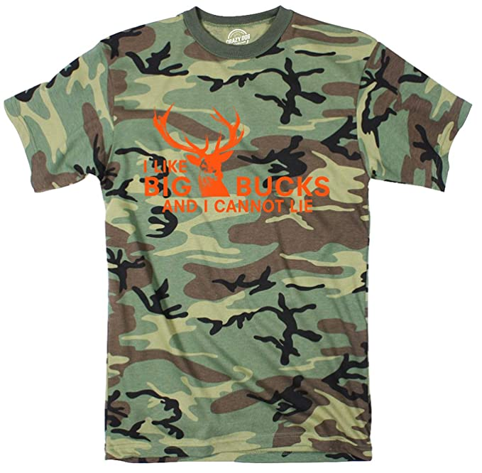 c4e71a89 I Like Big Bucks and I Cannot Lie Youth Camo Tshirt Funny Hunting Tee (Camo