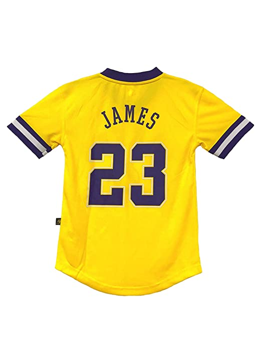 Outerstuff Lebron James Los Angeles Lakers NBA Youth 8-20 Yellow Home Pride  Jersey ( 1c208da3d