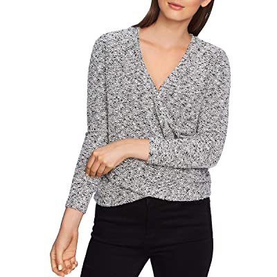 1.STATE Womens V-Neck Marled Wrap Sweater at Women's Clothing store