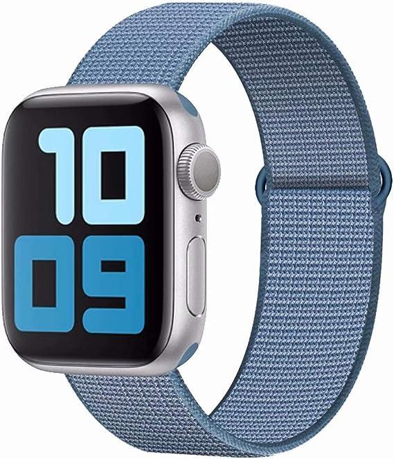 Image of SSEIHI Correa Compatible con Dispositivos Apple Watch Correa 38mm 40mm 42mm 44mm, Correa de Nylon Deportiva Suave de Repuesto Compatible Iwatch Series 5, Series 4, Series 3, Series 2, Series 1