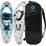 G2 21/25/30 Inches Light Weight Snowshoes for Women Men Youth, Set with Tote Bag, Special EVA Padded Ratchet Binding, Heel Li