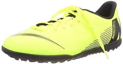 ab31e93f38b Amazon.com | Nike Junior Vapor 12 Club GS TF Soccer Shoes (Volt ...