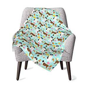 Junk Food French Fries Dog Baby Blanket Soft Warm Receiving Blanket for Boys Girls Newborn