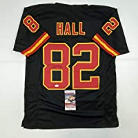 $124 » Autographed/Signed Dante Hall Kansas City Black Football Jersey JSA COA