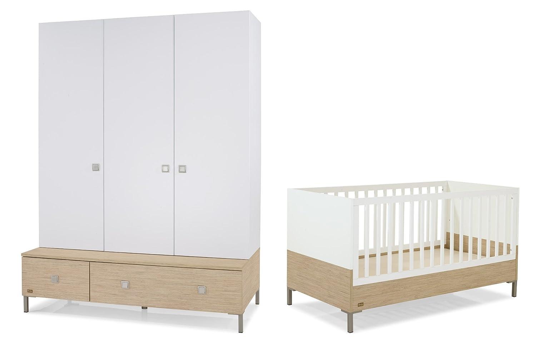 Herlag H1969-209 Kinderzimmer Kim bestehend aus: Kinderbett inklusiv Umbauseiten, Sockel 150 cm,  Schrank 3-türig