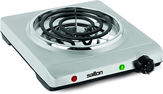 Amazon.com: Salton Single Stainless Steel Coil Portable Electric Cooktop,  1.36 kg: Electric Countertop Burners: Kitchen & Dining