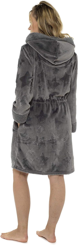Habigail Peignoir /à capuche super doux pour femme