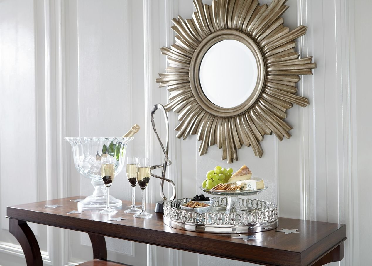Ethan Allen Oval Link Mirrored Tray, Polished Nickel by Ethan Allen (Image #3)