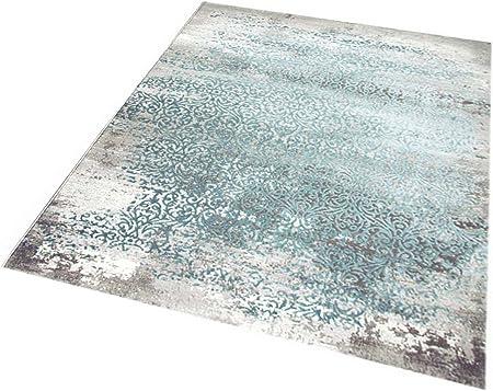 Teppich Modern Vintage Design Orientalisches Wohnzimmer Blau Türkis 160x230cm