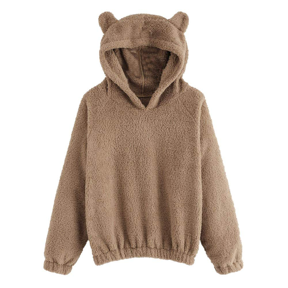 DéGagement!!!Femme Sweat-Shirt à Manches Longues Capuche Ours Outerwear, Outerwear Hoodies Cosplay Cartoon Encapuchonné Pull éPaisse Hiver Chaud Manteau DoubléE Polaire