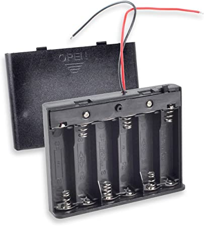 Wuqiong 12V AA Battery Box DIY Battery Holder Battery Packs Case Power Bank Wired ON//Off Switch with Cover