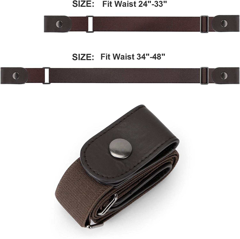 Buckle Free Belt No Bugle Adjustable Elastic Belt for Women Men By WERFORU