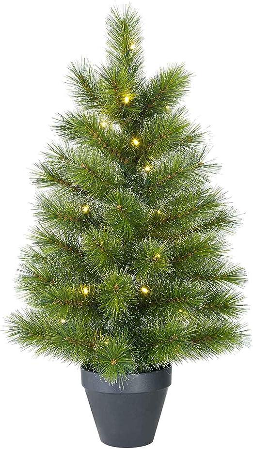 Black Box Artificial Mini Árbol de Navidad Glen Don Verde en Maceta con iluminación LED, Que Funcionan con 20 ledes, Altura: 60 cm 48 Ramas – Mini árbol – Mini árbol: Amazon.es: Juguetes y juegos