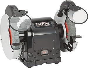Ironton 8in. Heavy-Duty Benchtop Grinder - 3/4 HP, 3,600 RPM