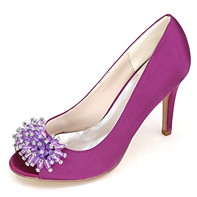 Elobaby Frauen High Heels Satin Y5623 12z Gericht Kleid Neue Spitze