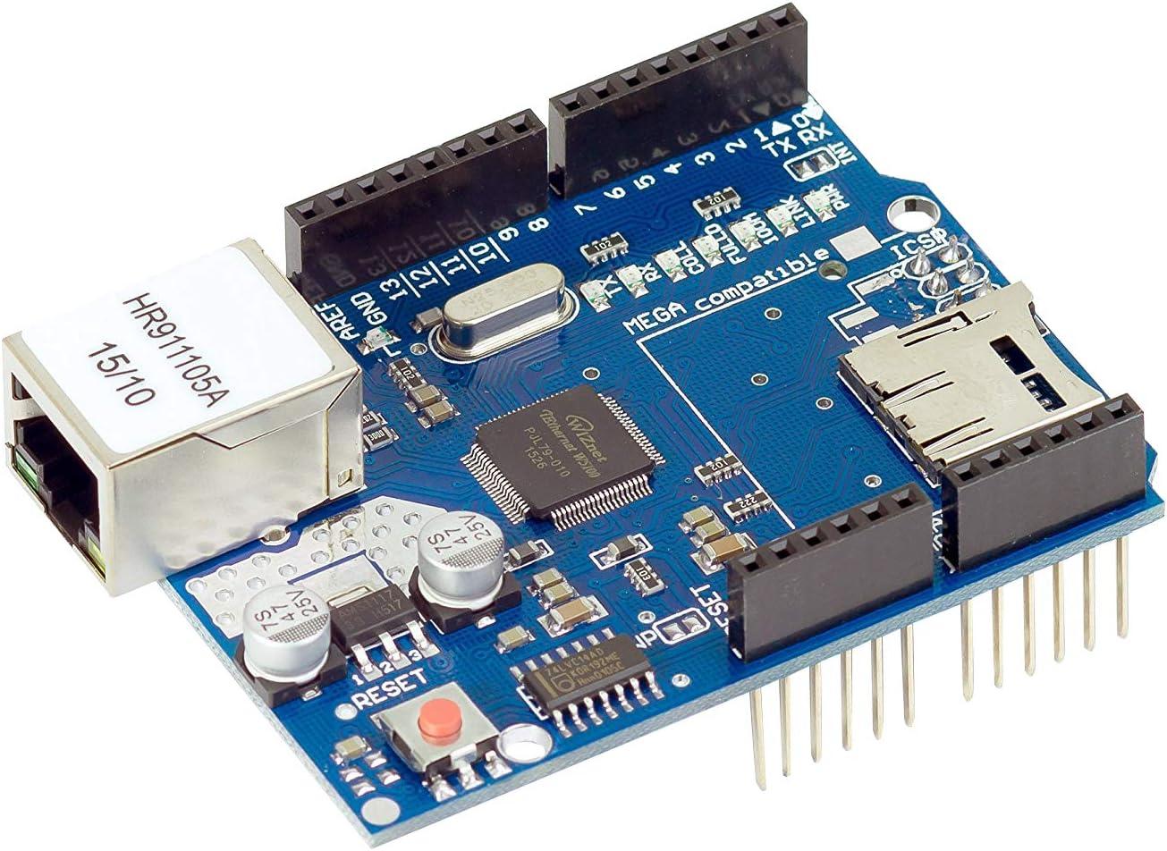 Ethernet Shield W5100 LAN Red Módulo para Arduino MEGA, uno 2560 ...
