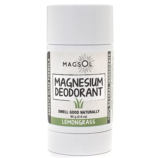 Lemongrass Magnesium Deodorant - Aluminum Free, Baking Soda Free, Alcohol Free, Cruelty Free, Sensitive Skin, All Natural, For Women Men Boys Girls Kids, Magnesium Deodorant 2.8oz: Lasts over 4 months