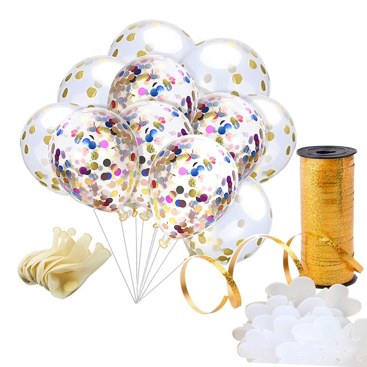 newer yoker 20 pcs confetti balloons 12 inches latex party balloons