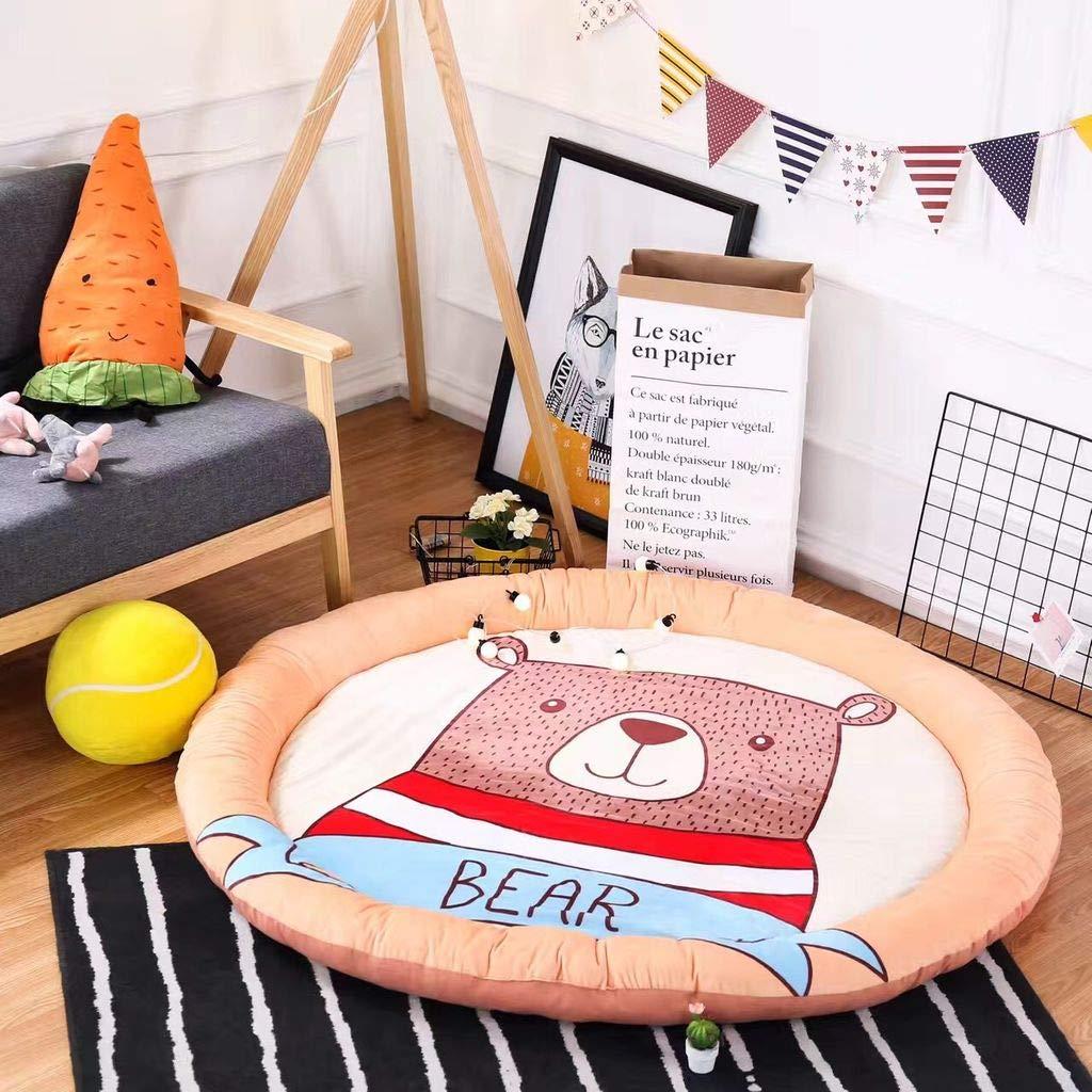 赤ちゃんラグ、折りたたみ式柔らかい滑り止め絶妙な縫製赤ちゃんクロールマットゲームパッド-150×150センチメートル(59×59インチ) B07S1VWYJH  150×150センチメートル(59×59インチ)