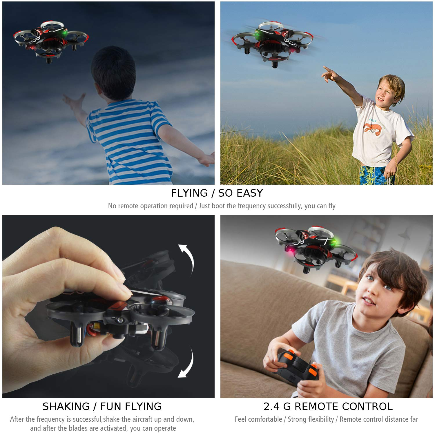 QOVFL06NDL2D55N0186I4TRGM RC Helicopter Headless Mode 3D Flip One Key Return B bangcool Micro Drone Interactive Best Drones Gesture Sensing Mini Quadcopter Drone with 6-Axis Gyroscope Red Mini Drones for Kids