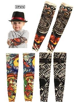 Mangas de tatuaje temporal para niños, iToolai Art Cooling Arm ...