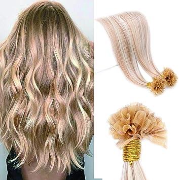 U Tip Nail Tipped Pre Bonded Remy Human Hair Extension Italian Keratin  Fusion Bonding Hair 56e82bb4c3