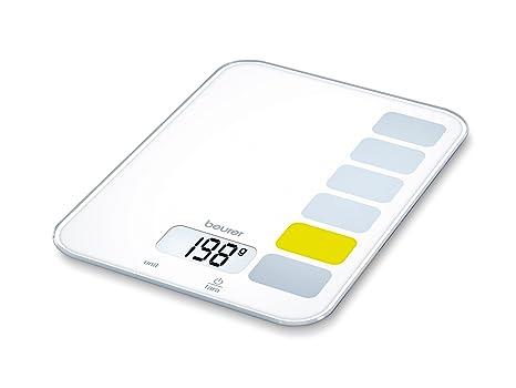 Beurer KS-19 - Balanza de cocina, 5 kg/1 gr, botón táctil, color ...