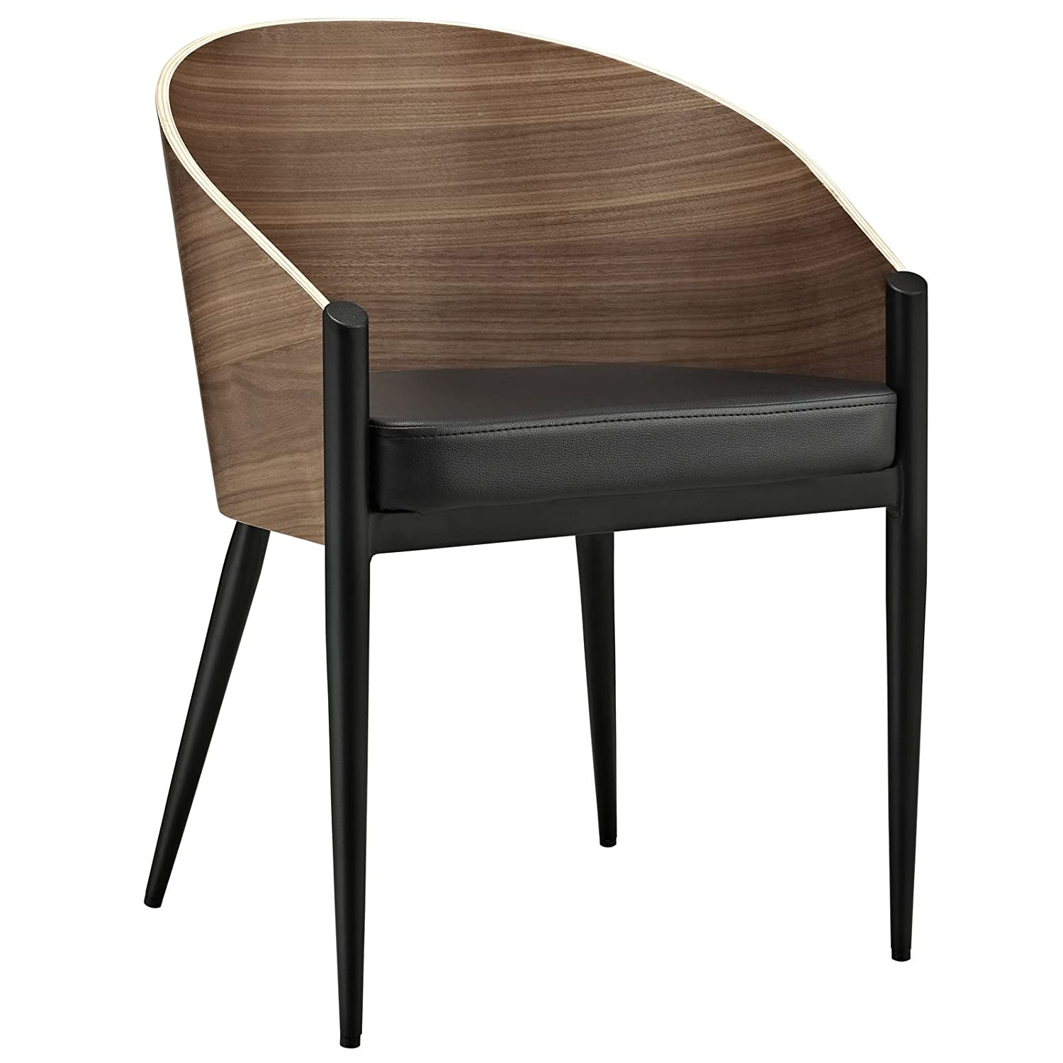 Amazon Modway Cooper Dining Wood Armchair in Walnut Chairs