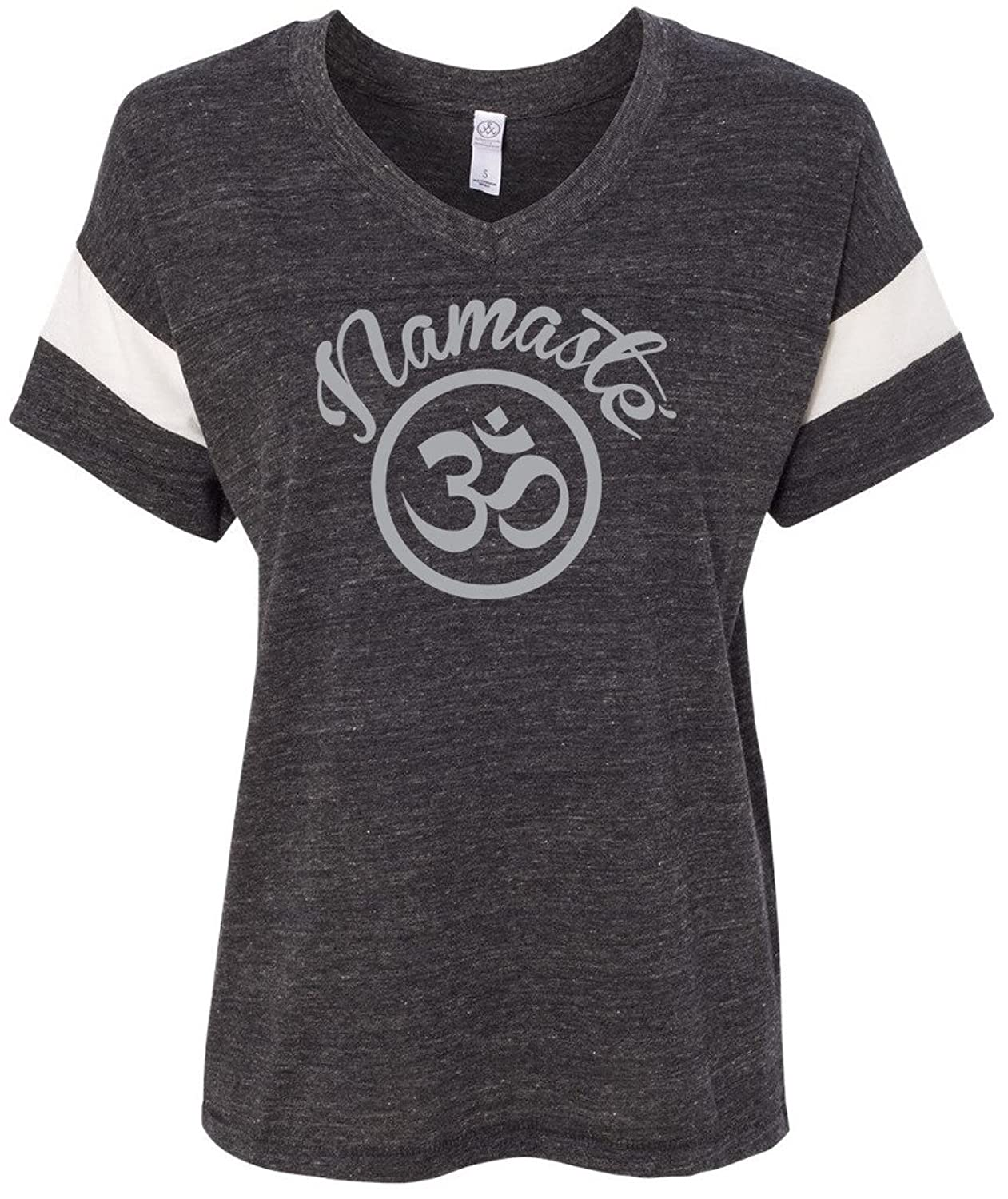 "Yoga Clothing For You Ladies ""Namaste Om"" Eco Blended V-neck"