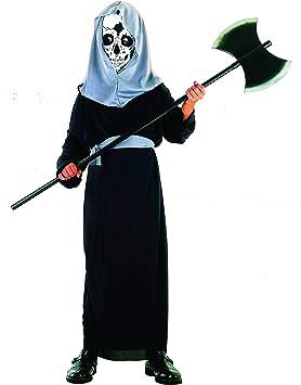 Magi Coo Demonio Esqueleto Disfraz Infantil niño Negro de Gris ...