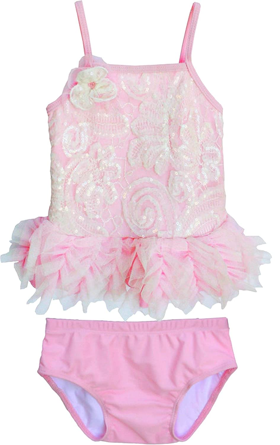 d7f71e69e5 Amazon.com: Isobella and Chloe Baby Girls Wink for Pink Tankini Swimsuit:  Clothing