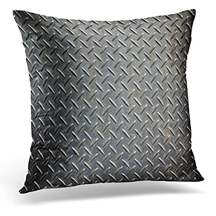 Amazon Com Throw Pillow Cover Gray Metal Aluminium Dark List With